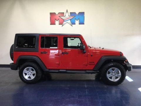 Pre-Owned 2013 Jeep Wrangler Unlimited 4WD 4dr Sport